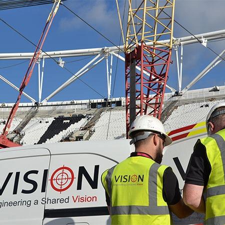 Olympic stadium survey Vision Engineering