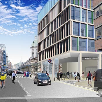 artist impression of completed farringdon station project