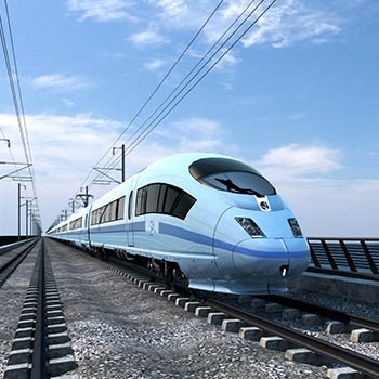 artists impression of hs2 train in operation on the new line