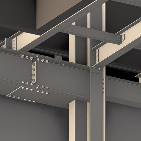 gatwick airport digital model showing steel beams
