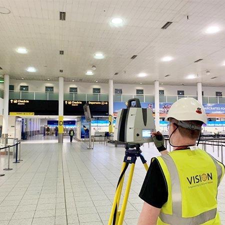 gatwick airport north terminal internal laser scan survey