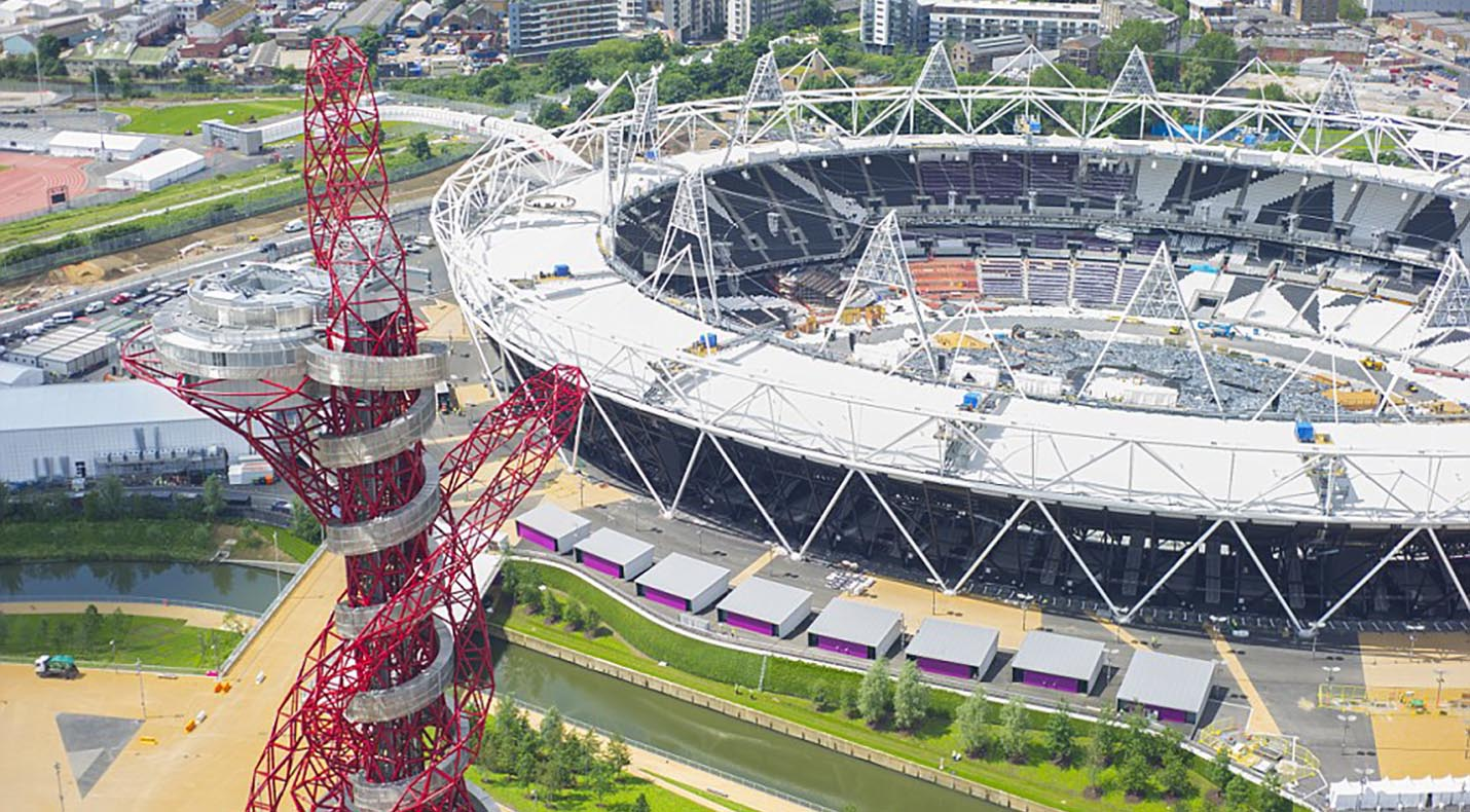 View of London Stadium and ArcelorMittal Orbit