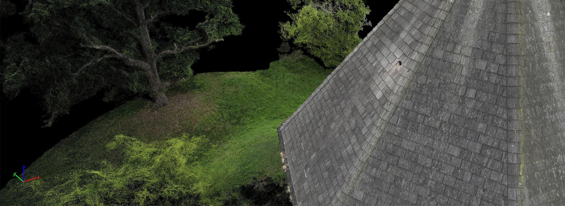 Uav survey of building and vegetation - Vision Engineering