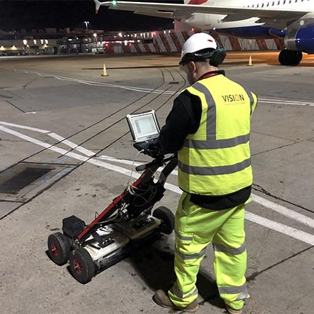 heathrow airport, pas128 survey, gpr survey