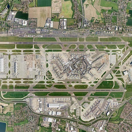 heathrow airport aerial view