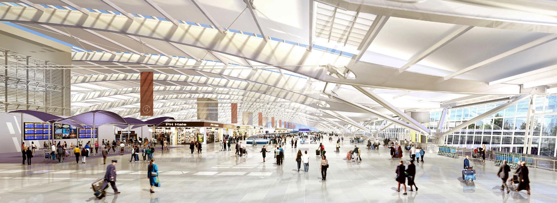 heathrow airport t5 building internal artist impression