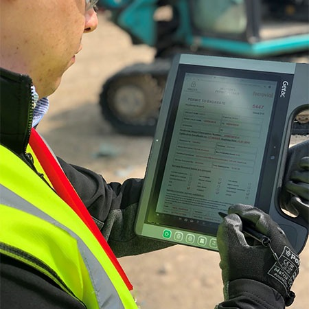 Dragos testing permit to dig on vislock software